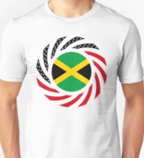 Jamaican American Multinational Patriot Flag Series Slim Fit T-Shirt