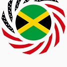 Jamaican American Multinational Patriot Flag Series by Carbon-Fibre Media