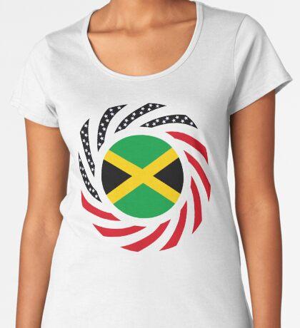 Jamaican American Multinational Patriot Flag Series Premium Scoop T-Shirt