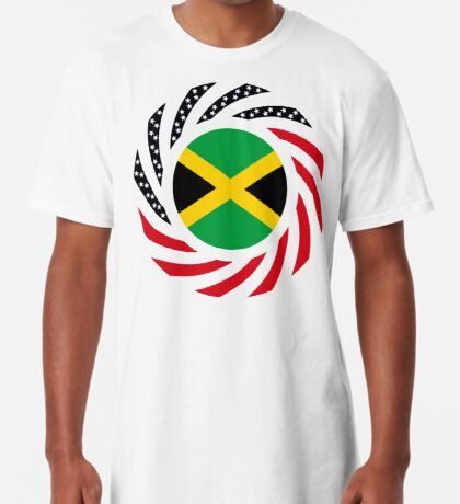 Jamaican American Multinational Patriot Flag Series Long T-Shirt