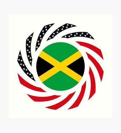 Jamaican American Multinational Patriot Flag Series Art Print