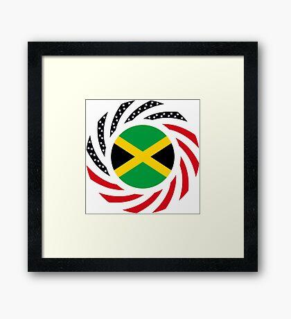 Jamaican American Multinational Patriot Flag Series Framed Print