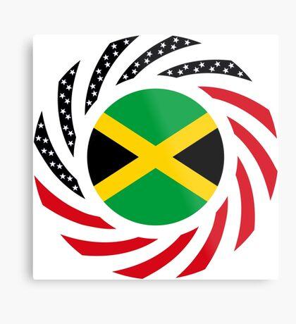 Jamaican American Multinational Patriot Flag Series Metal Print