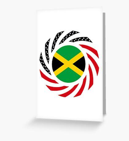 Jamaican American Multinational Patriot Flag Series Greeting Card