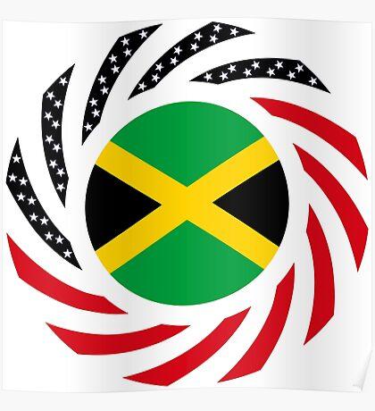 Jamaican American Multinational Patriot Flag Series Poster