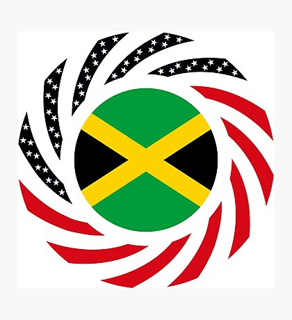 Jamaican American Multinational Patriot Flag Series Photographic Print