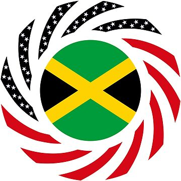 Jamaican American Multinational Patriot Flag Series by carbonfibreme