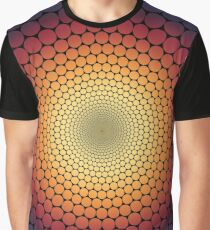 Optical Illusion Radial Gradient (Black) Graphic T-Shirt