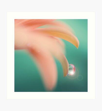 Pinkquoise drop Art Print