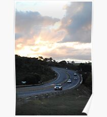 Djerriwarrh Creek Cutting at Sunset Poster