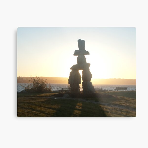 The lonely marker, Vancouver, Canada, 2007 Metal Print