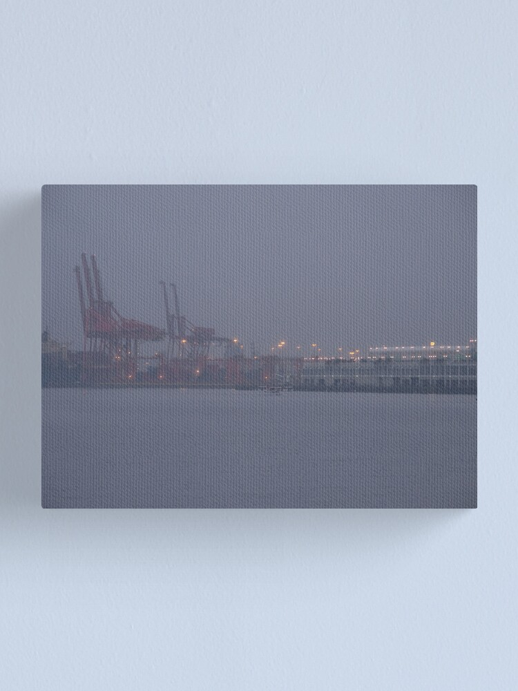 Alternate view of Coming to work in the fog, Vancouver, Canada, 2007 Canvas Print