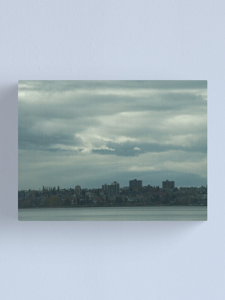 """Alternate view of """"Light, gray"""",  Vancouver, Canada, 2007 Canvas Print"""