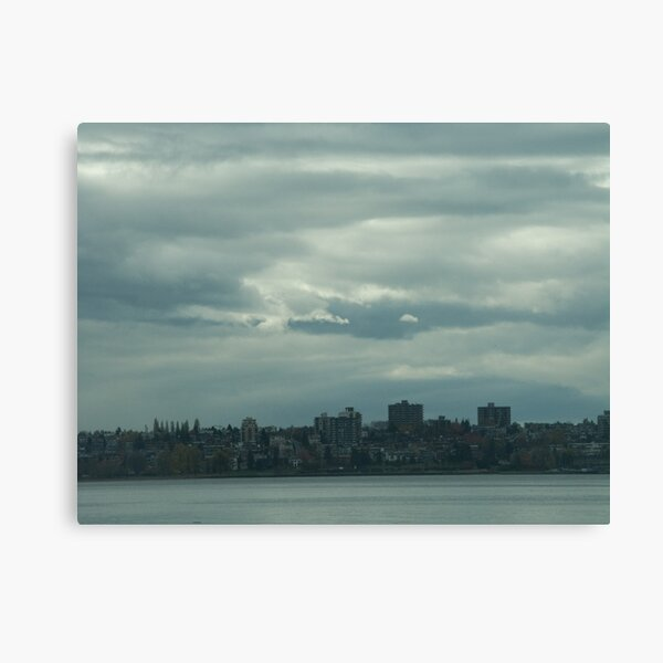 """Light, gray"",  Vancouver, Canada, 2007 Canvas Print"