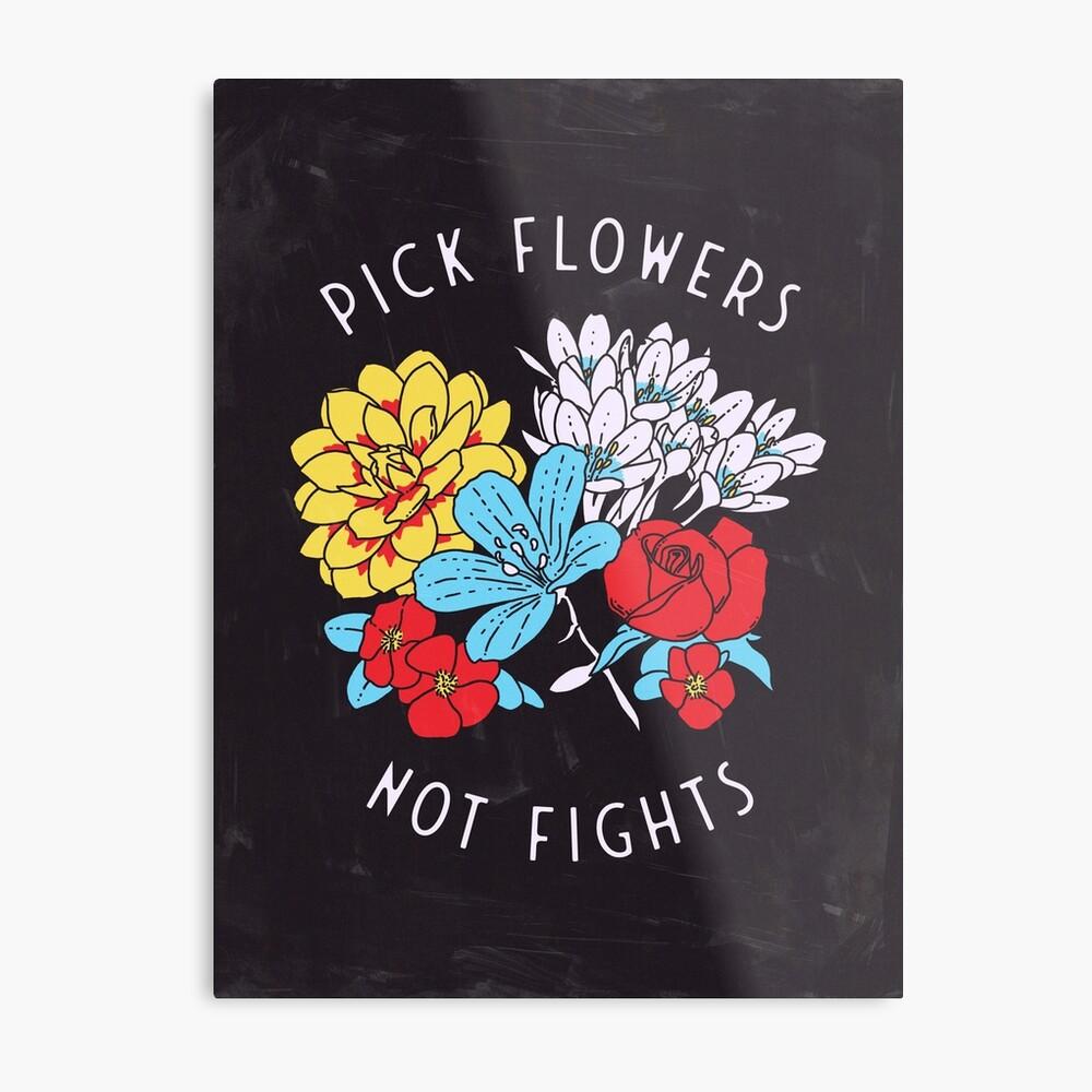 Impression métallique «Fleurs»