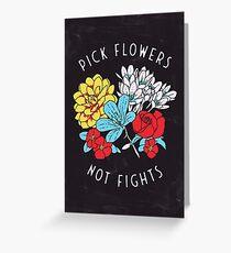 Blumen-Shirt Grußkarte