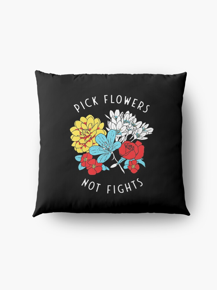 Alternate view of Flowers Floor Pillow