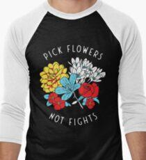 Blumen-Shirt Baseballshirt für Männer