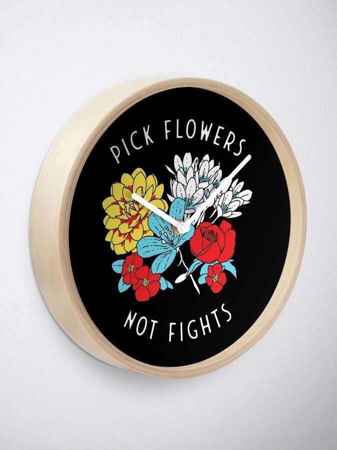 Horloge ''Fleurs': autre vue