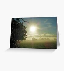 Another Misty Moisty Sunrise Over A Post-Apocalyptic England Greeting Card