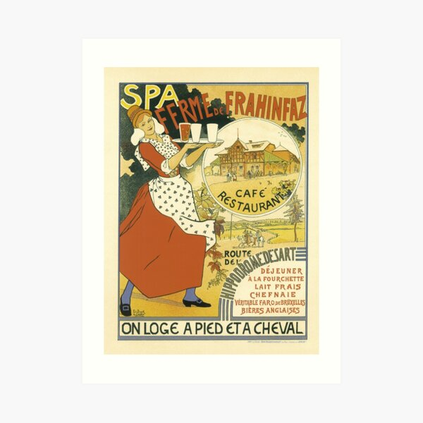 Spa Cafe Vintage French Advertising  Art Print