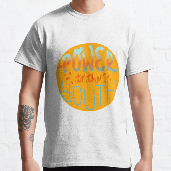 POWER TO THE YOUTH - Activism Illustration  Classic T-Shirt