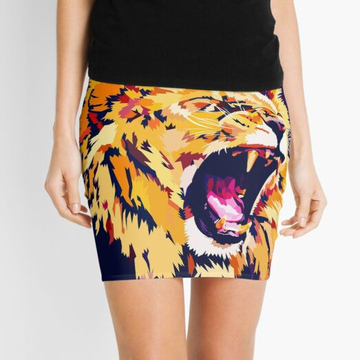 Lion Roar Mini Skirt