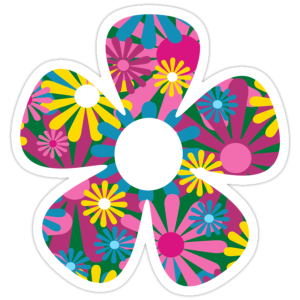 Funky Flower Stickers By Louise Parton