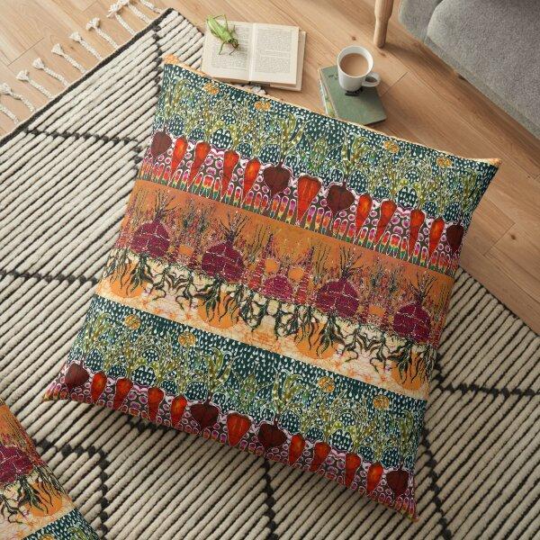 Sun and Rain Garden Floor Pillow