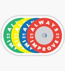 ALWAYS IMPROVE Weight Plates Sticker