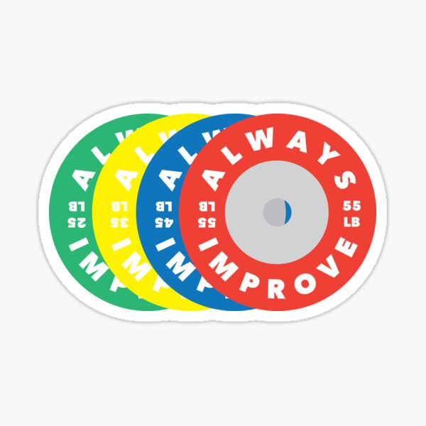 ALWAYS IMPROVE Weight Plates Sticker
