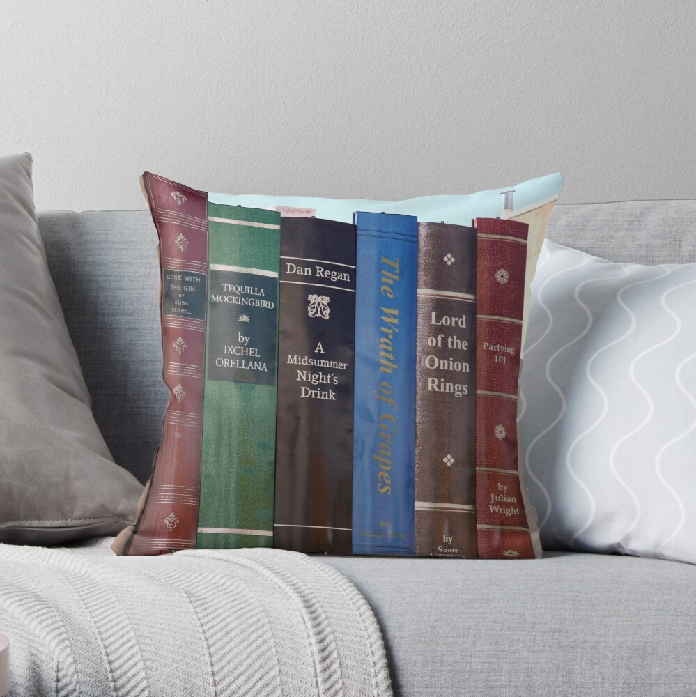Lord Of The Onion Rings Throw Pillow