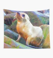 BABY SEAL Wall Tapestry