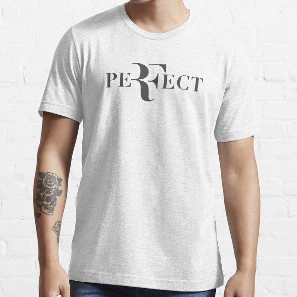 Gris foncé Perfect Roger federer logo T-shirt essentiel