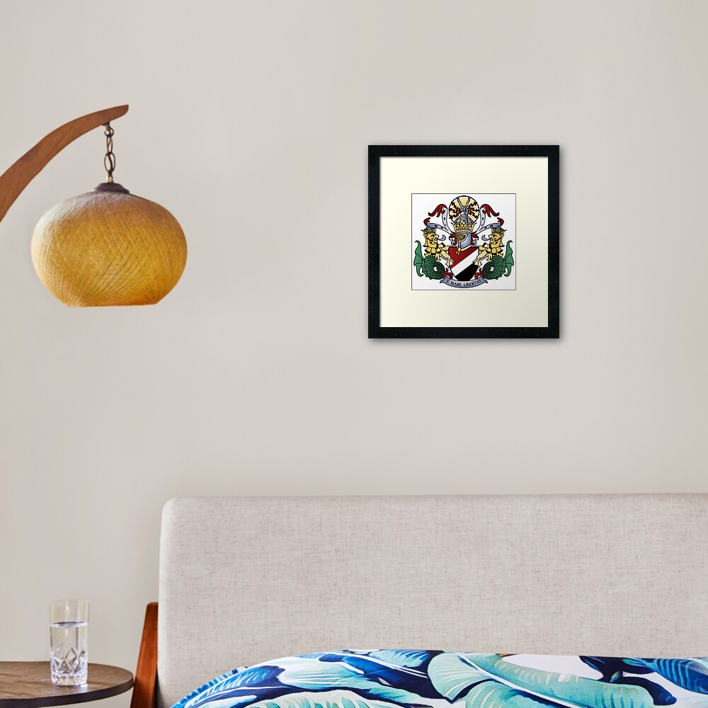 Coat of Arms of the Principality of Sealand Framed Art Print