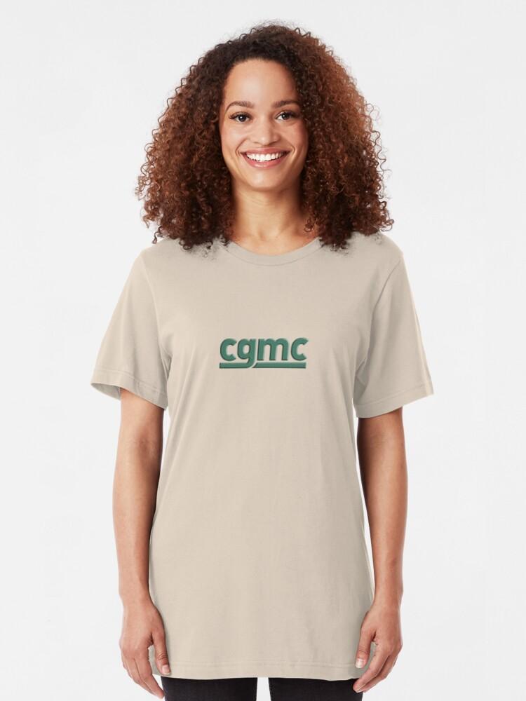 Alternate view of CGMC -- Cannabis Growers and Merchants Coop -- Darknet Market Slim Fit T-Shirt