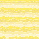 Four Shades of Yellow with White Squiggly Lines by ShelleyYlstArt