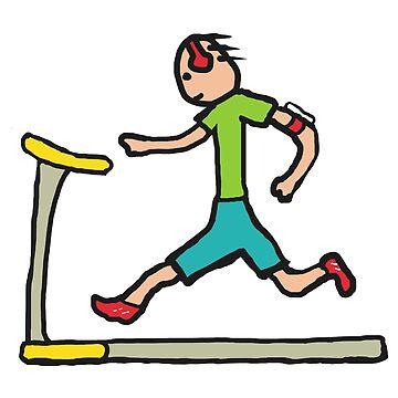 Treadmill Running by Mark-Ewbie