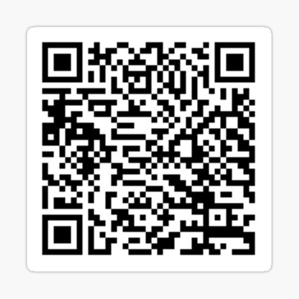 Código QR de Chandler Bing Pegatina