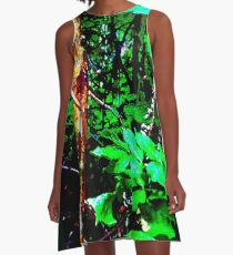 PSYCHEDELIC VINES A-Line Dress
