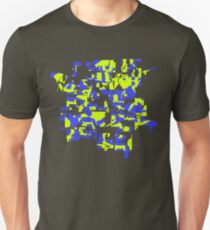 Yellow and blue explode! T-Shirt