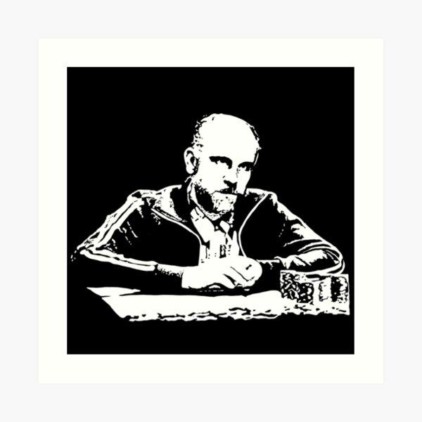 Teddy KGB Rounders Art Print