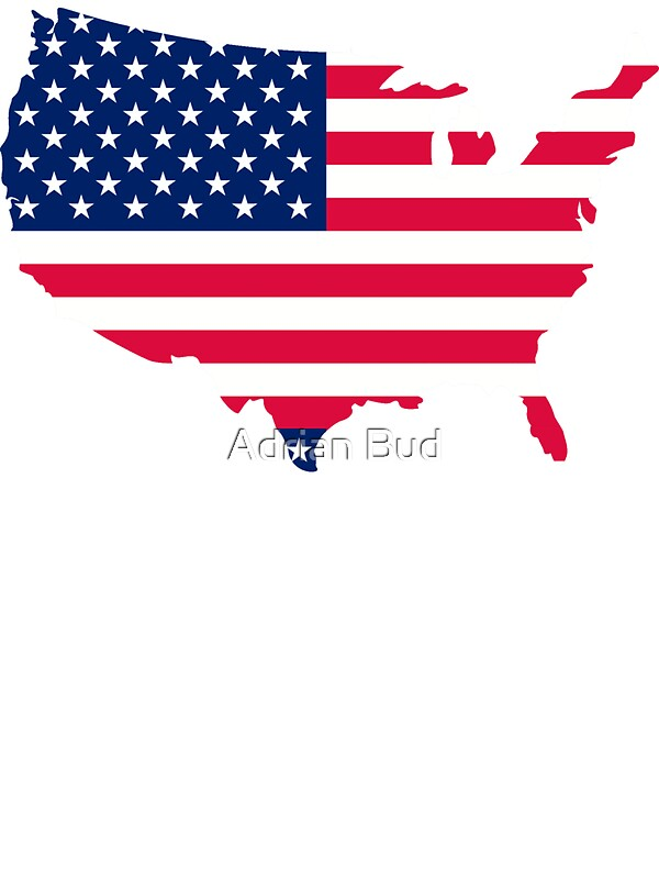 USA Map Flag Th Of July Independence Day Stickers By Adrian - Us map flag