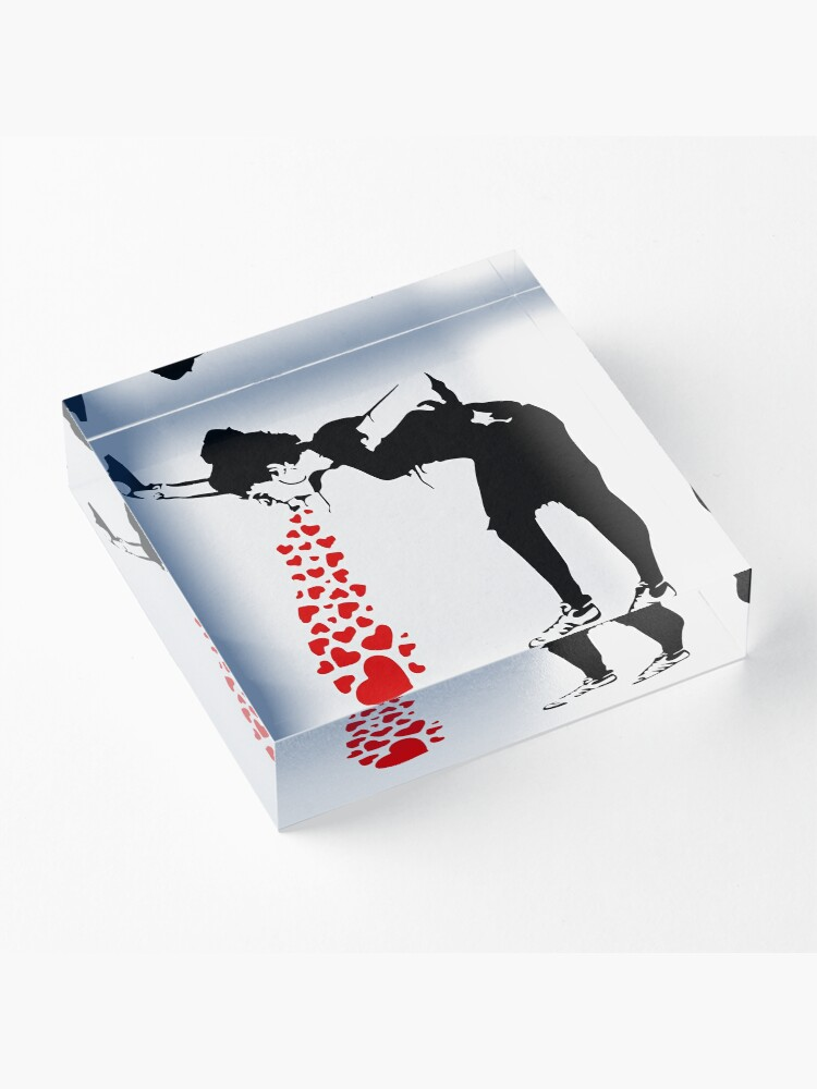 Alternate view of Lovesick - Banksy, Streetart Street Art, Grafitti, Artwork, Design For Men, Women, Kids Acrylic Block