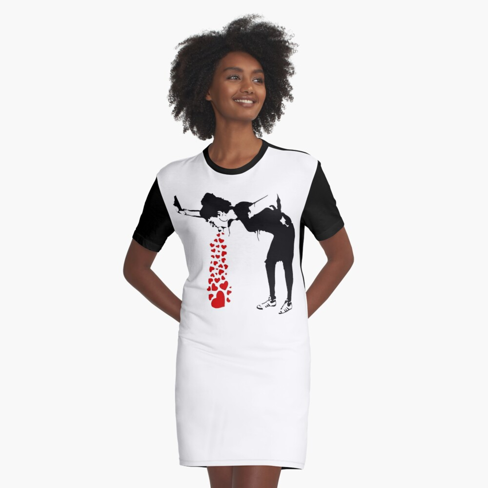 Lovesick - Banksy, Streetart Street Art, Grafitti, Artwork, Design For Men, Women, Kids Graphic T-Shirt Dress