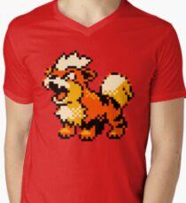 Pokemon - Growlithe Men's V-Neck T-Shirt