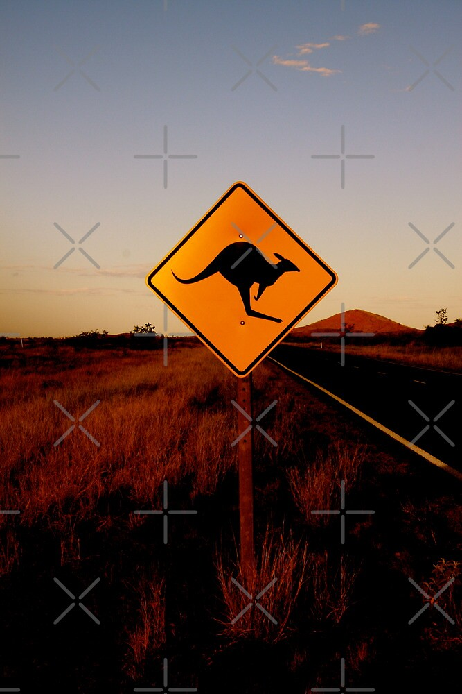Kangaroo Sign by Ngarluma78