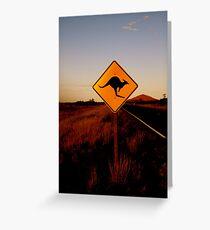 Kangaroo Sign Greeting Card