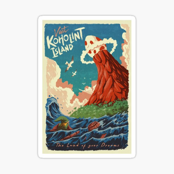 Visit Koholint Island Sticker