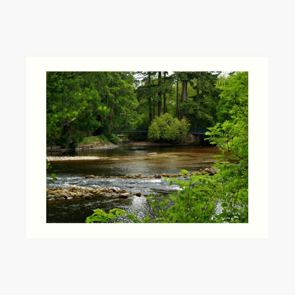A View Of The River Ness In Scotland. Art Print